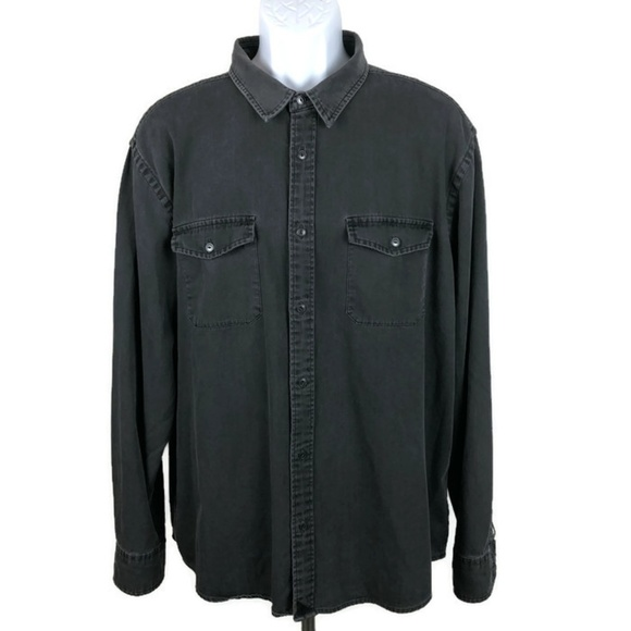 UNTUCKit Other - UNTUCKit Edgewood Black Denim L/S Shirt  XXL